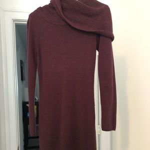 Plum Turtleneck Sweater Top